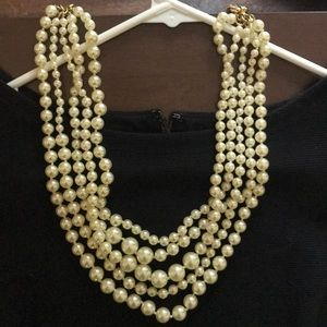 J Crew Pearl Twisted Multi strand necklace